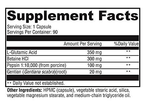 Amazon.com: Betaine HCL Plus enzimas – 90 caps – l-glutamic ...
