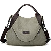 xiaoxiongmao Large Pocket Casual Women's Shoulder Cross body Handbags Canvas Leather Bags