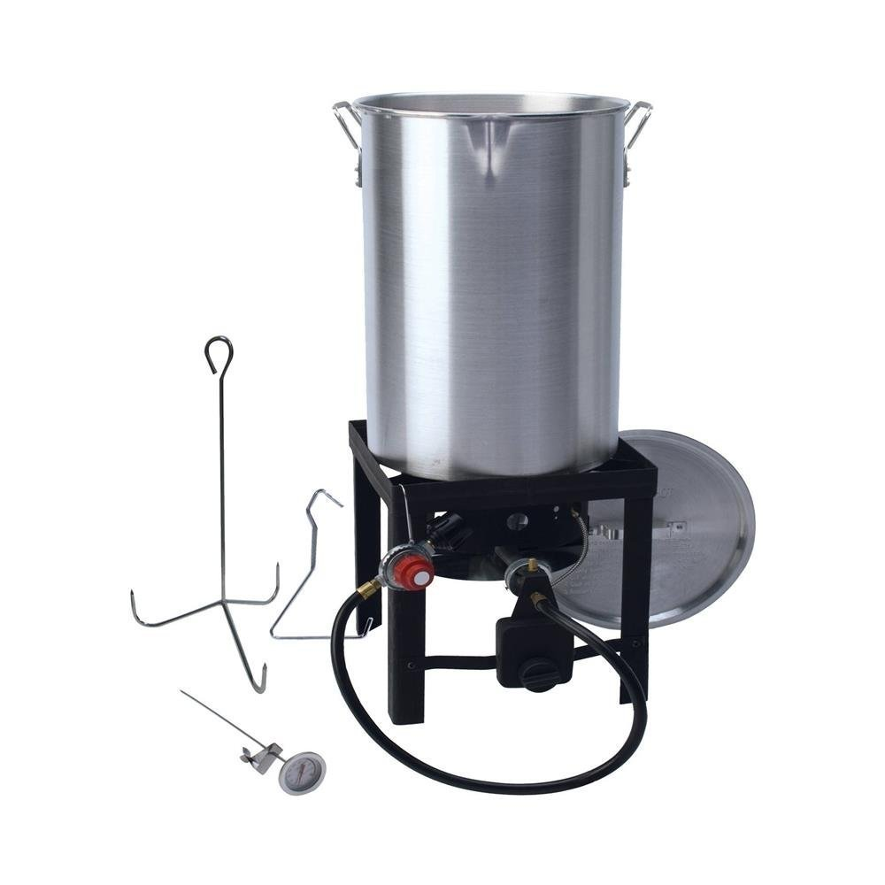 GrillSmith 30 Quart Propane Turkey Fryer Set 848696008753
