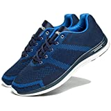 MINWIND Men's Lightweight Running Shoes Knit Breathable Athletic Shoes Outdoor Sneakers (47 M EU/13 D(M) US, Blue) For Sale