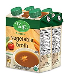 Pacific Foods Organic Vegetable Broth, 8-Ounce Cartons, 24-Pack