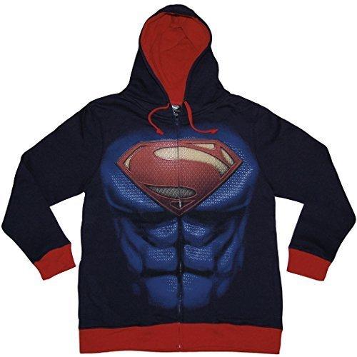 Superman Man of Steel Costume Hoodie (X-Large, -