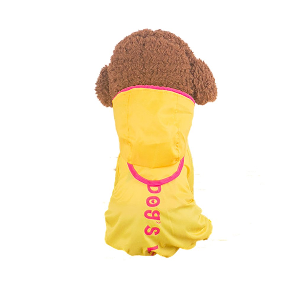 Yellow 10  Yellow 10  FXNN Pet Clothes Cute Four feet Waterproof Breathable Small Dog pet Clothes Raincoat (color   Yellow, Size   10 )