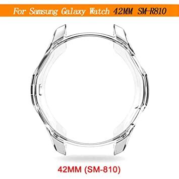 Eruditter Montre en Silicone pour Samsung Galaxy Watch 42 mm 46 mm Gear S3 Frontier Shell