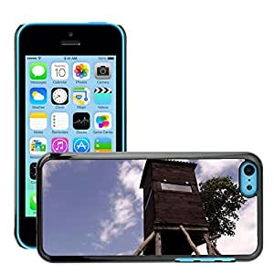 GoGoMobile Slim Protector Hard Shell Cover Case // M00124674 Hunter Fish Lookout Animals Shoot // Apple iPhone 5C
