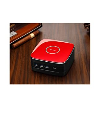 Ovegna MN3 : Mini PC Intel Celeron J1900 Quad-Core 2.0Ghz Turbo boost 2.4Ghz 2GB RAM, 32 GB SSD,Wifi, Windows 10 Home. (Red): Amazon.es: Informática
