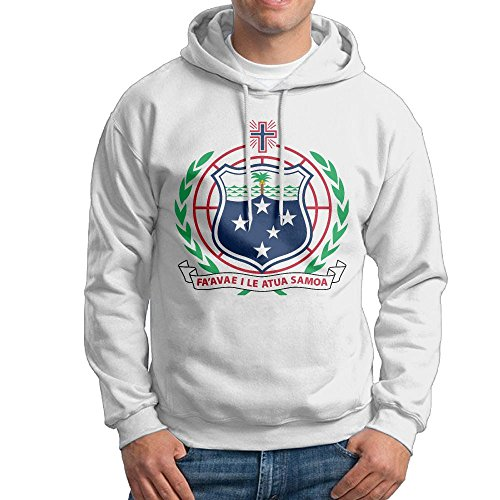 Men's Adult Print Coat Of Arms Of American Samoa National Emblem Long Sleeves Hoodies Hooded Sweatshirt Pullover Sweater, Super Soft Hooded Sport Outwear For Men ()
