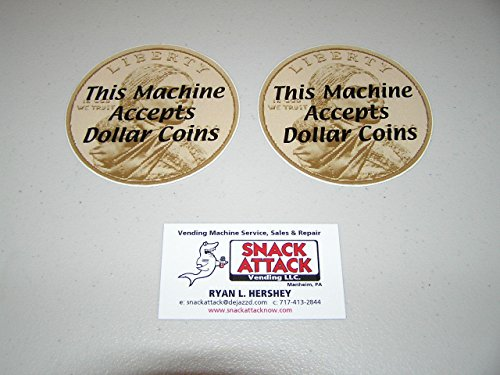 SNACK or SODA VENDING MACHINE (2) Decals