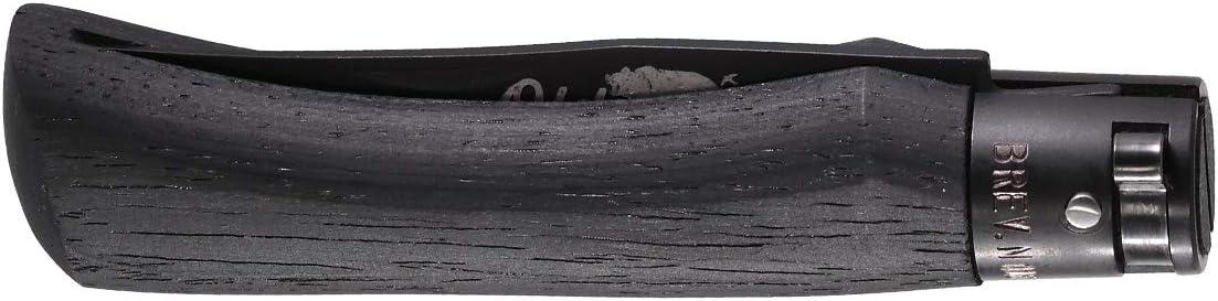 Navaja Old Bear S Negra con Hoja de Acero 420 lacada Negra de 7 cm y empu/ñadura de Madera Negra de 10 cm Cierre Patentado 01OB029 para Caza Portabotellas de Regalo Supervivencia y Bushcraft Pesca