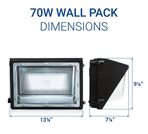 Hyperikon Led Wall Pack 70w Fixture 275 350w Hps Hid