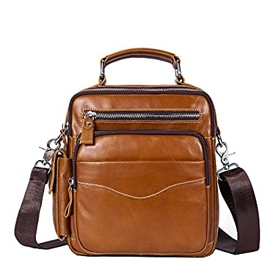 c01ef97110 chic Genda 2Archer Men s Leather Cross Body Messenger Bag Travel Purse  Organizer