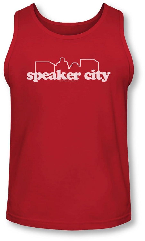Old School - Mens Speaker City Logo Tank-Top