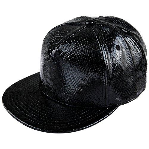 Samtree Unisex Snapback Hats,Adjustable Hip Hop Flat Brim Baseball Cap (01-Black) (Hats Hip Hop Women)
