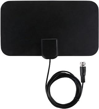 Wildlead Antena de TV HD HD para interiores amplificada HDTV de 50 millas de alcance VHF UHF