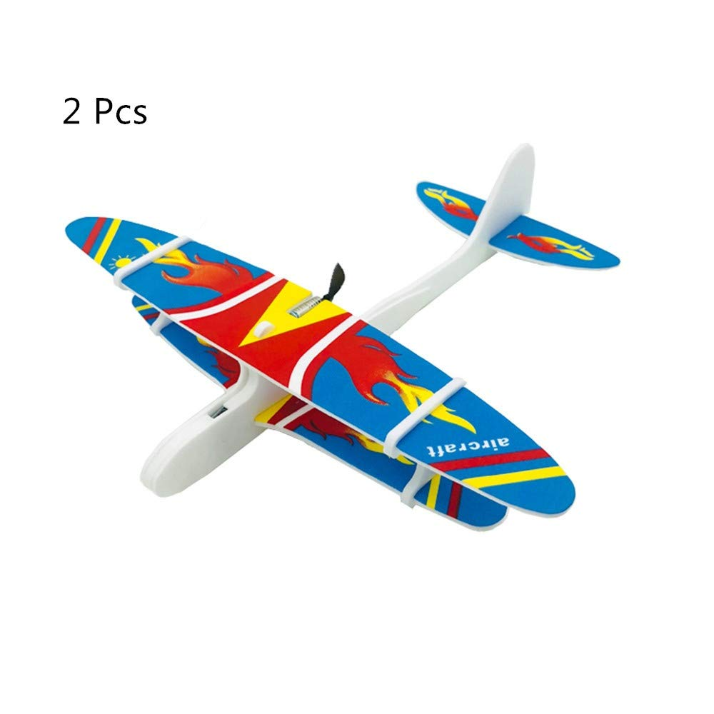 HUJIAQI EVA Electric Glider 2Pcs, Anti-Falling Aircraft Model, Suitable for Outdoor Sports, Education, Family Game Toys can Increase Children's, Adult Outdoor Fun. by HUJIAQI