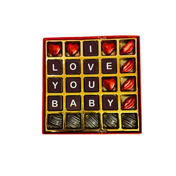 51euWCcLrFL Expelite Personalised Valentines Day Gift / I Love You Baby Chocolate Box Chocolate Gift Pack