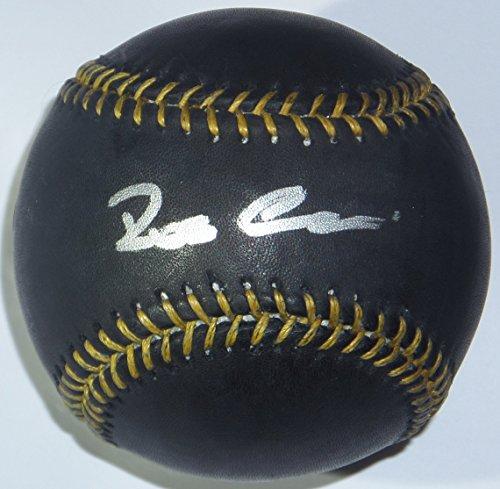 ROBINSON CANO SIGNED RAWLINGS BLACK LEATHER MLB BASEBALL w/MLB HOLO STEINER COA