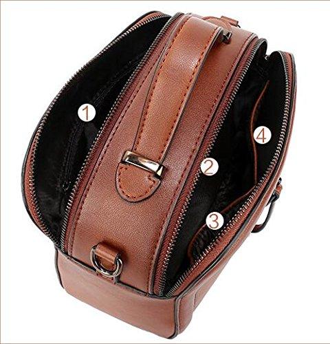 paquet Designer fourre en Sacs tout véritable pour à bandoulière épaule les Spray Messenger sac main couleur Black sac sac épaule cuir femmes diagonale petit besace Twq8Ow