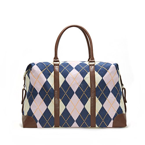 Limited Time Sale Royal Heritage Print Argyle Duffle Fashion Bag - MSRP $99 by Lulu Dharma