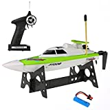 deAO High Speed Remote Control Boat Full Channel 14Km/H & 25m Range 27mHz Powerful RC Racing Boat