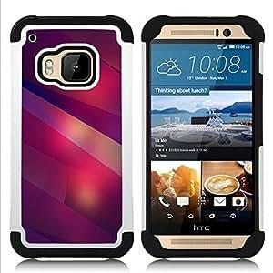 For HTC ONE M9 - modern art shapes lines purple red Dual Layer caso de Shell HUELGA Impacto pata de cabra con im??genes gr??ficas Steam - Funny Shop -