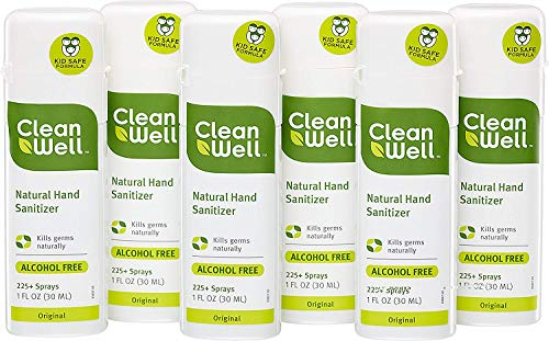 CleanWell Natural Hand Sanitizer Spray - Original Scent, 1 Ounce (Pack of 6) by Cleanwell (Image #1)'