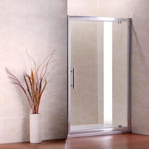 900 x 800 mm mampara de ducha Puerta de perros de cristal pantalla ...