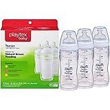 Playtex BPA Free Premium Nurser Bottles with Drop In Liners 3 Count, 8 Ounce