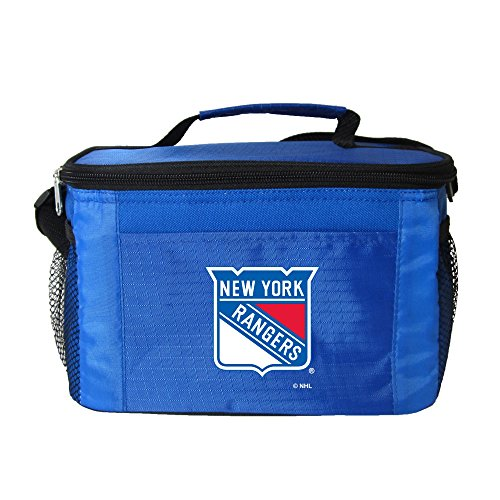 fan products of NHL New York Rangers Insulated Lunch Cooler Bag with Zipper Closure, Royal