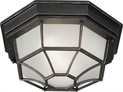 One Light Bordeaux Satin White Glass Outdoor Flush Mount Model - 17005-01-64