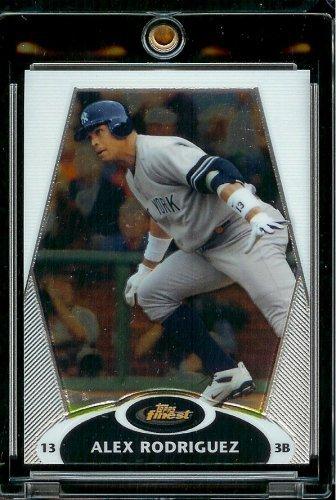(2008 Topps Finest # 100 Alex Rodriguez - New York Yankees - MLB Baseball Trading)