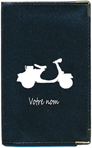 Auto's, motoren: onderdelen en accessoires Etui carte grise noir en cuir papiers de voiture permis cycle  à personnalise Overig