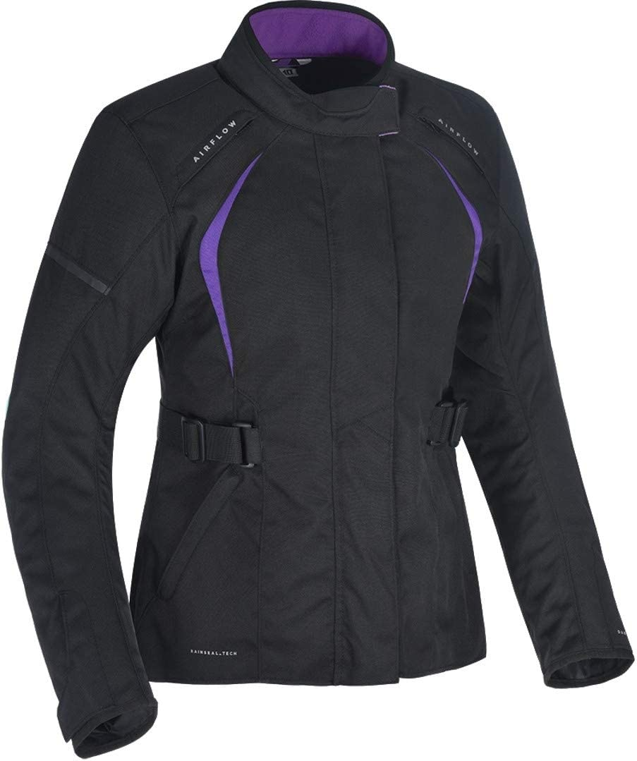 Oxford Dakota 2.0 Ladies Motorcycle Jacket Black//Purple Size 14