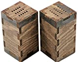 """Hardwood Salt and Pepper Shakers - """"S"""" and """"P"""" Shaker Holes - Large 2"""" x 2"""" x 4"""" - Handmade - Better Than Factory Finish"""
