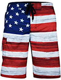 217773f7bd Men's American Flag Patriotic Board Shorts (Assorted Designs)