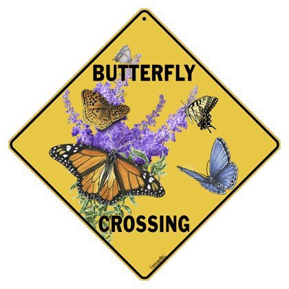 Aluminum Crossing Sign (Butterfly Crossing 12