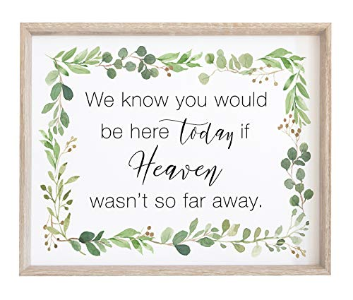 - 2 City Geese Memorial Wedding Sign | Watercolor Eucalyptus Greenery Print on Textured Thick Cardstock Paper | in Memory of Loved Ones | We Know You Would Be Here Today Table Signs - NOT Framed