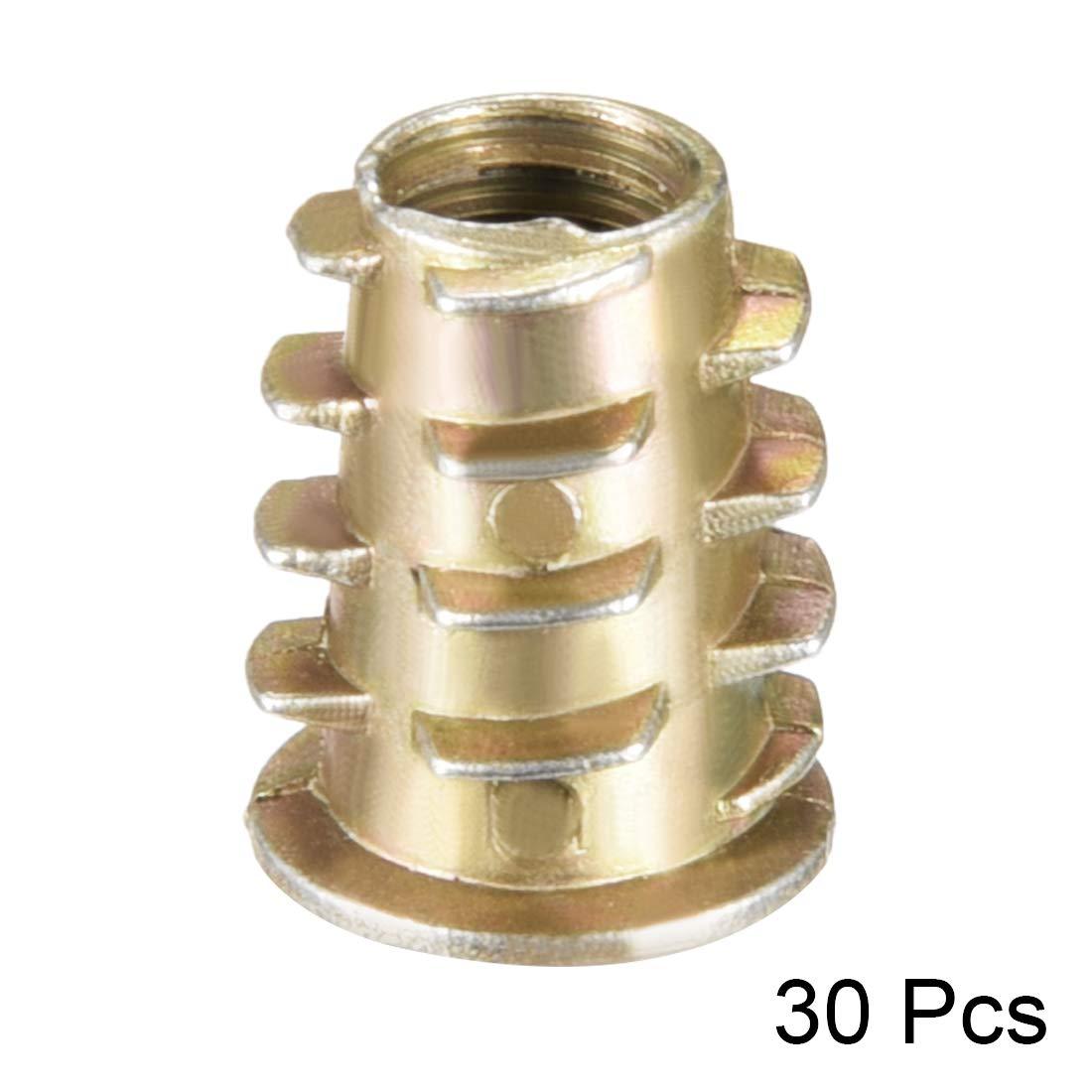 uxcell Threaded Insert Nuts Zinc Alloy Hex Socket M6 Internal Threads 14mm Length 50pcs