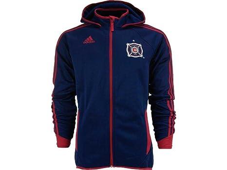 Amazoncom Chicago Fire Navy Adidas Presentation Jacket