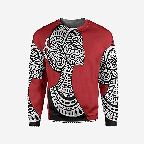 iPrint Men's Crewneck Lakehouse Decor Pullover Sweater by iPrint