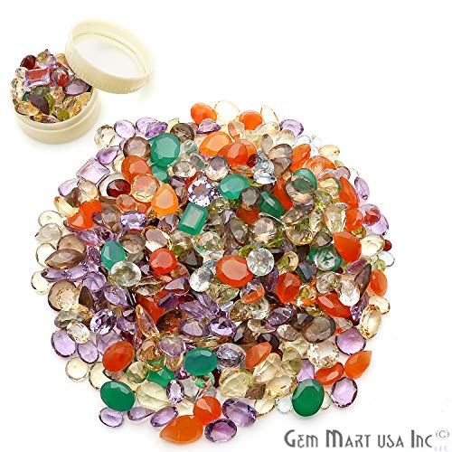 100+ Carats Loose Mixed Gems Wholesale Lot. Natural Faceted Semi Precious Gemstones. Gemmartusa Loose Gemstone