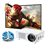 1080 Projector Screen - Lightinthebox LED 3D Home Theater Business Projector 4000 Lumens 1280x800 Long Throw 1080p VGA USB SD HDMI Input