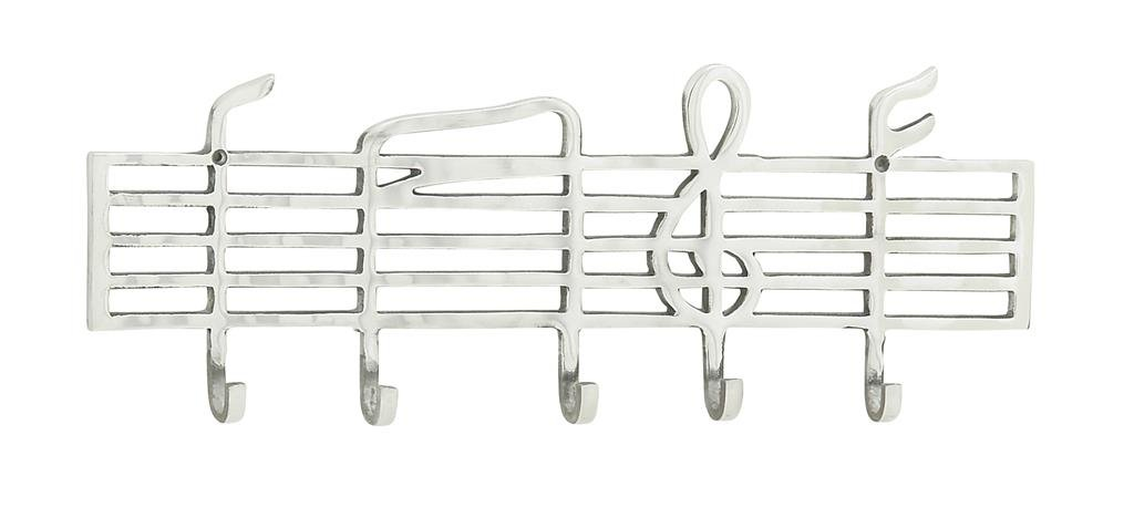 Deco 79 Musically Themed Aluminum Wall Hook