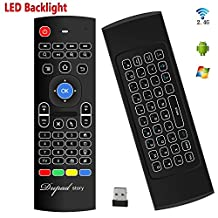 Backlit Air Keyboard Mouse Remote MX3 Pro, 2.4Ghz Mini Wireless Android TV Control & infrared Learning for Computer PC Android TV Box By Dupad Story