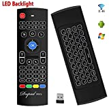 Backlit Air Keyboard Mouse Kodi Remote MX3 Pro, 2.4Ghz Mini Wireless Android TV Control & infrared Learning for Computer PC Android TV Box By Dupad Story