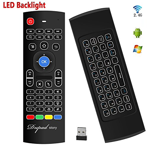 Backlit Air Mouse Keyboard Kodi Remote MX3 Pro, 2.4Ghz Mini