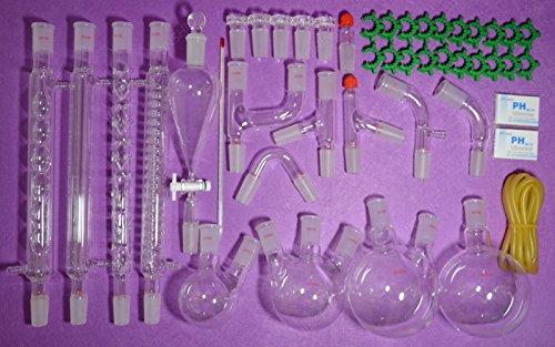 Labware Kit (NANSHIN Glassware,24/40,New Organic Chemistry Laboratory Glassware Kit,45 PCS...)