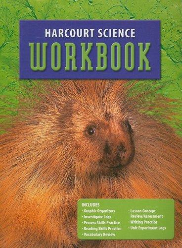 Harcourt Science: Student Edition Workbook Grade 3