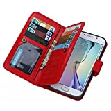 Galaxy S6 Edge Plus Case, Bestpriceam® Flip PU Leather Wallet Case Cover for Samsung S6 Edge Plus with Card Slots & Cash Pocket (Red)