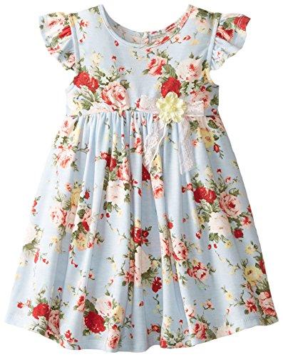 Pippa & Julie Little Girls' Floral Knit Dress